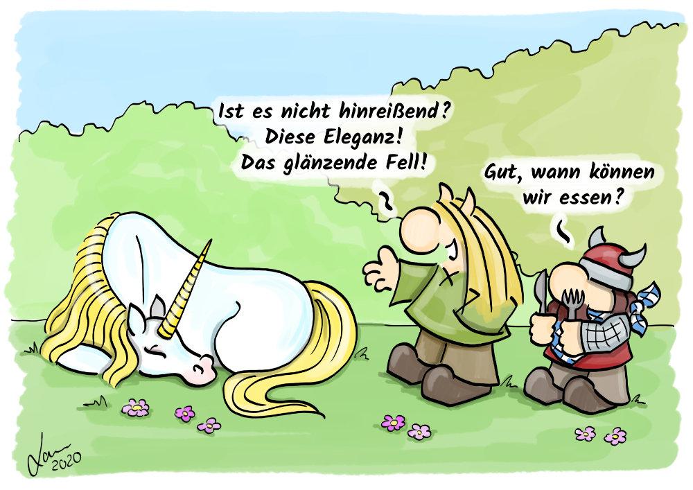 Cartoon-Hassliebe