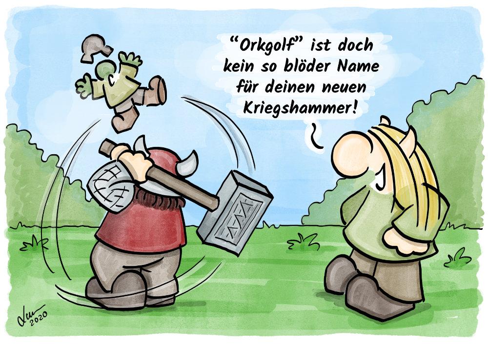 Cartoon Orkgolf