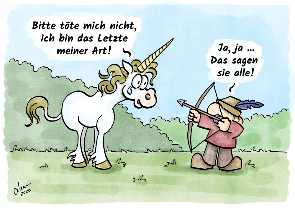 Cartoon Fabelwesen