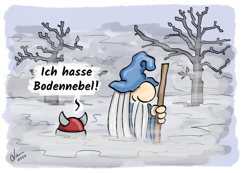 Cartoon - Bodennebel
