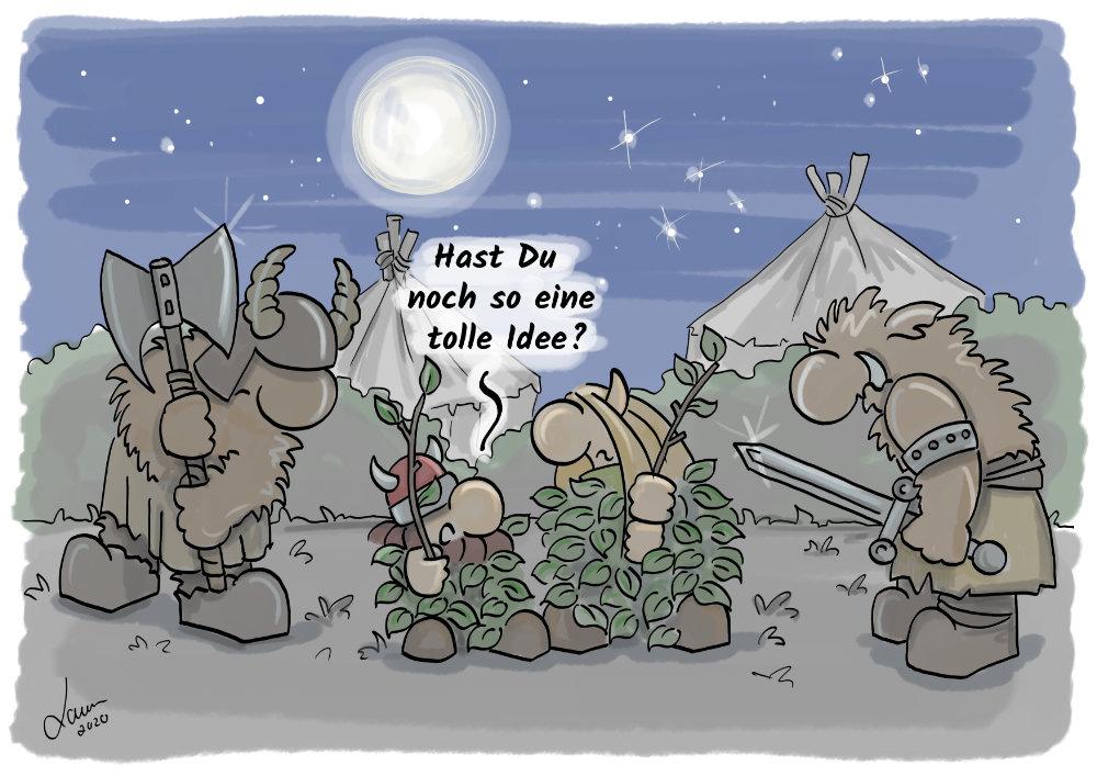 Cartoon Dumme Idee