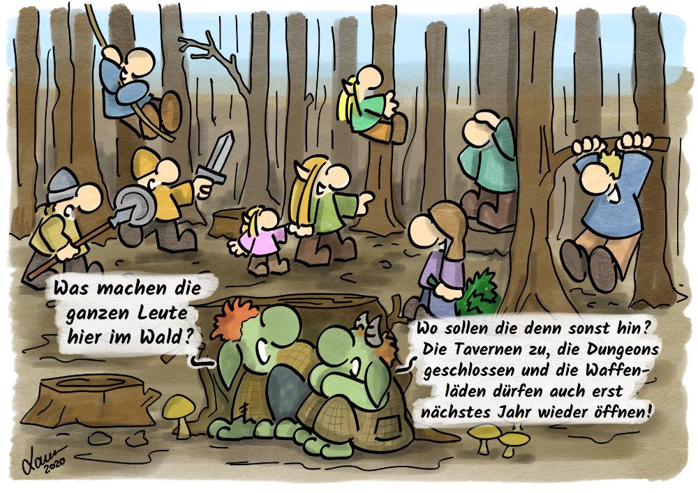 Cartoon-Wald