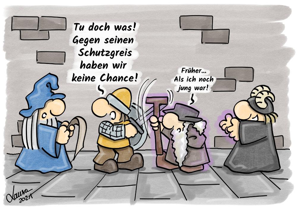 Cartoon Sicherheit
