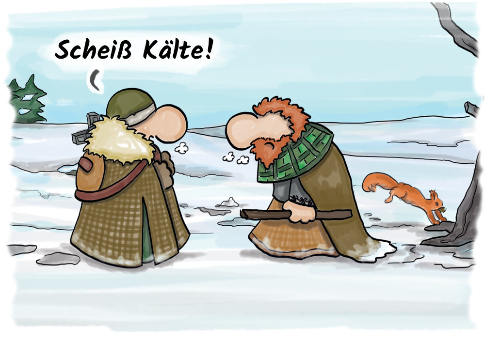 Cartoon Kelten