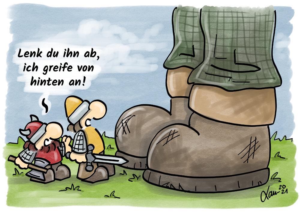 Cartoon Ablenkung