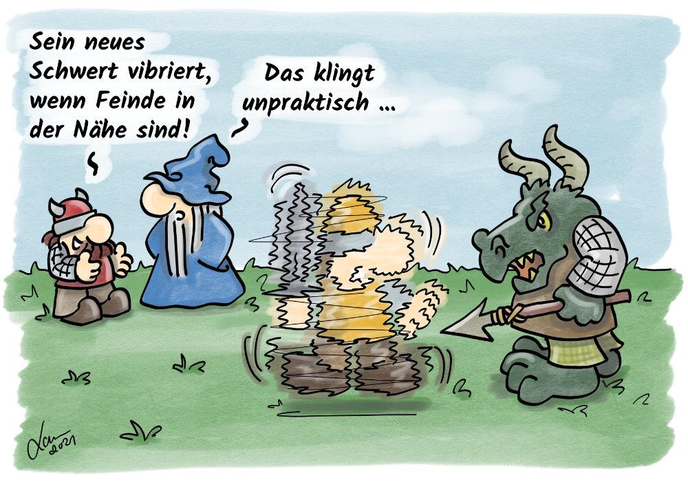 Cartoon-Vorahnng