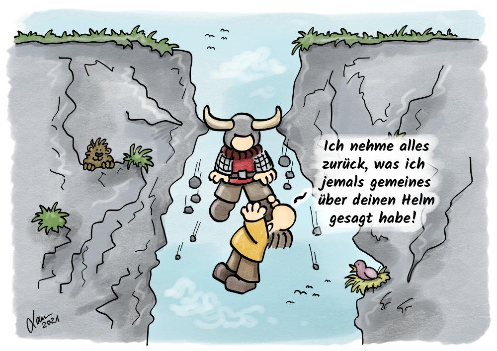 Cartoon - Hörnerhelme