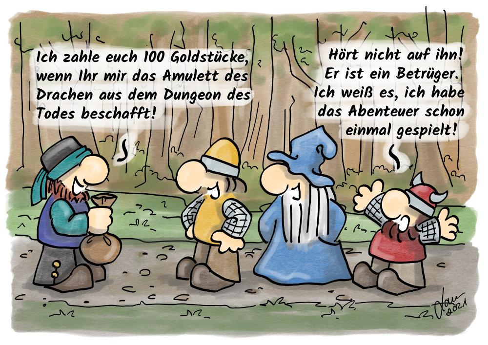 Cartoon-Abenteuer
