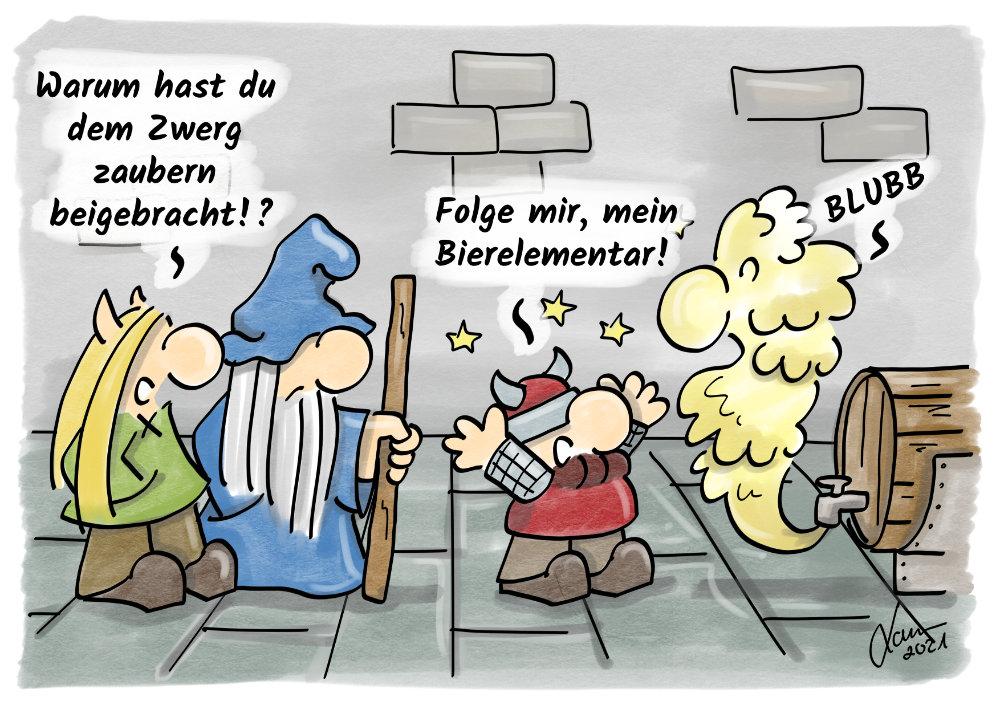 Cartoon - Bierelementar