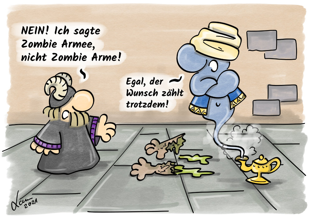 Cartoon - Dschinn