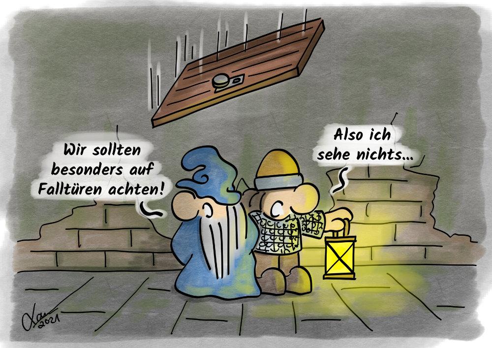 Cartoon - Falltüren
