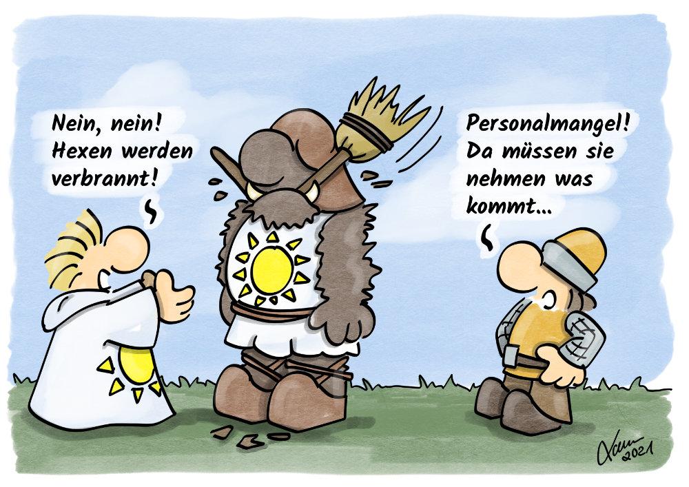 Cartoon- Personalmangel