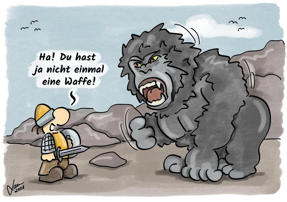 Cartoon - Waffenlos