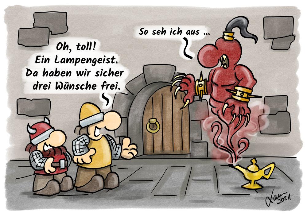 Cartoon - Wünsche