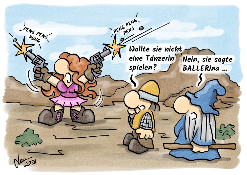 Cartoon - Tänzerin