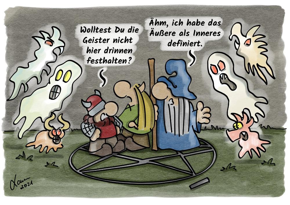 Cartoon-Geister