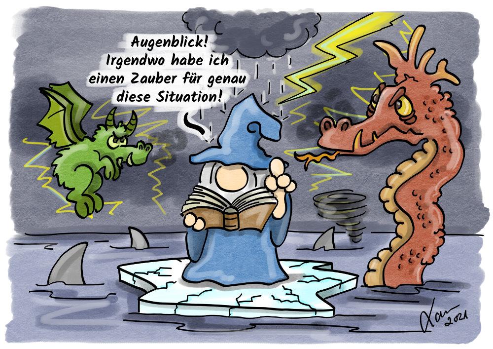 Cartoon - Zauberbücher