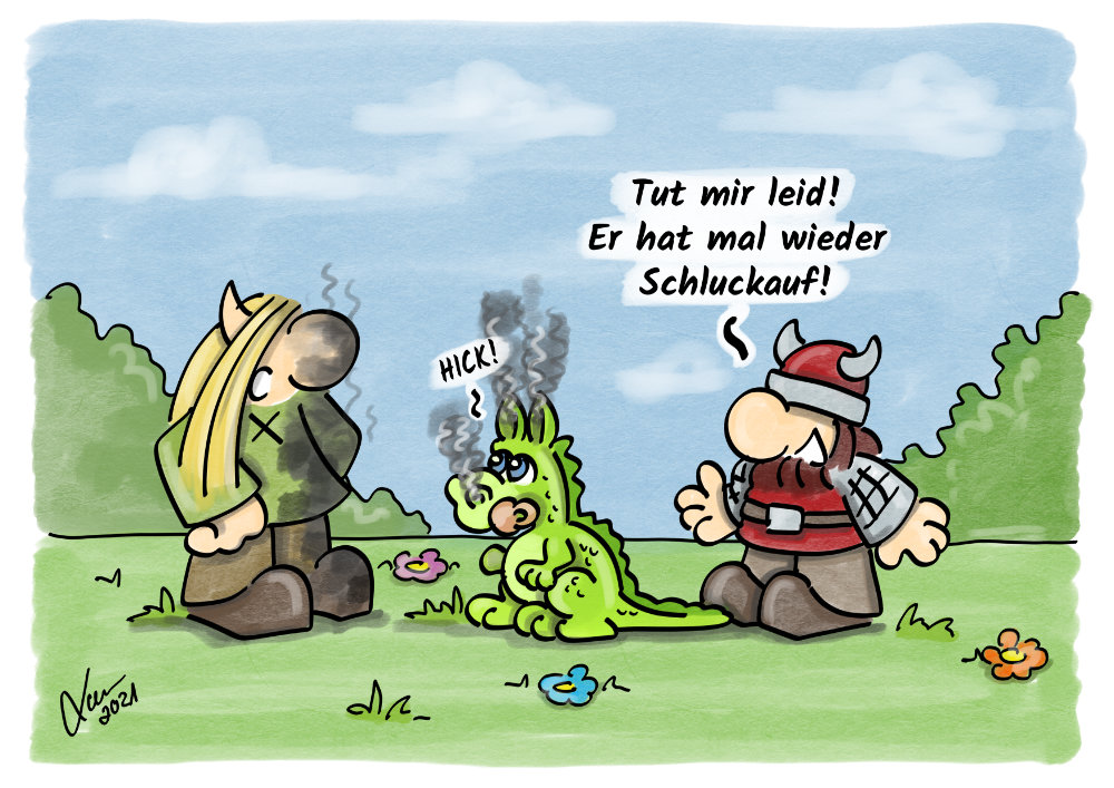 Cartoon - Schluckauf