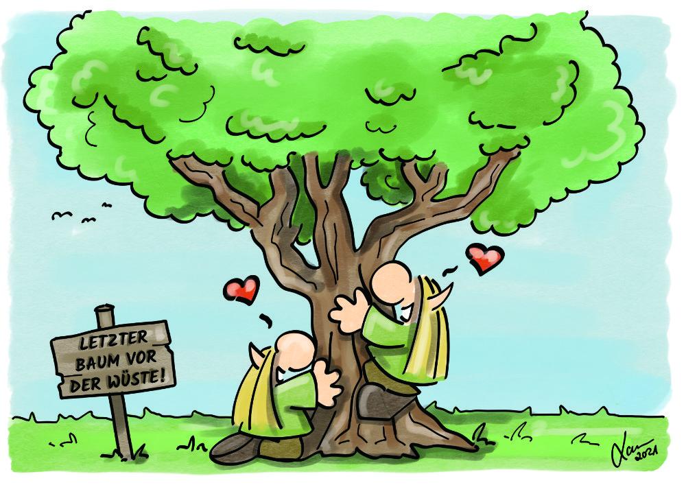Cartoon Bäume