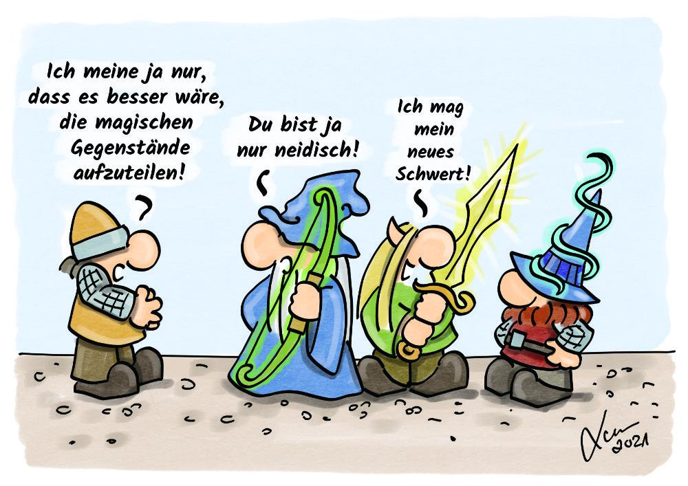 Cartoon - Teilen