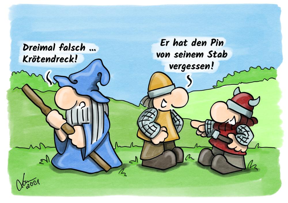 Cartoon: Unbefugter zugriff